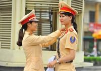 Những 'bóng hồng' cảnh sát giao thông tại Ninh Bình