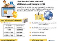 Cách tính thuế và kê khai thuế khi KD trên mạng xã hội