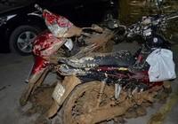 Vỡ tường hầm chung cư Giai Việt, hàng trăm tấn bùn đổ vào nhà xe