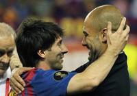 Messi sẽ tái ngộ với ông thầy Pep Guadiola tại Man City