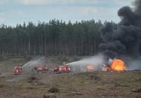 Trực thăng Mi-28 rơi ở triển lãm hàng không Nga