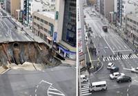 Hố tử thần lấp thần tốc tại Nhật Bản... lại sắp sập