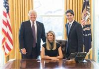 Ảnh con gái ông Trump ngồi ghế tổng thống gây bão