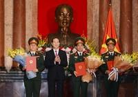 Chủ tịch nước trao quyết định thăng quân hàm cấp tướng