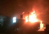 Cháy kho nhớt trong cây xăng ở Đắk Lắk