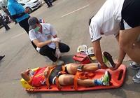 Tour of Thailand 2015: Thành Tâm gặp nạn sau cú tung nước rút