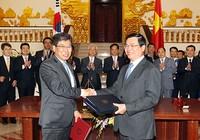Việt Nam-Hàn Quốc ký kết Hiệp định Thương mại tự do