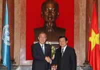 Chủ tịch nước thông báo diễn biến biển Đông với tổng thư ký LHQ
