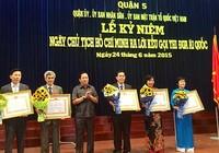 Quận 5 đón nhận huân chương Độc lập hạng Ba