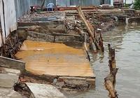 Cà Mau: Sạt lở nhấn chìm cửa hàng xăng dầu