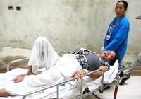 Phản đối thi công, một phụ nữ nhập viện