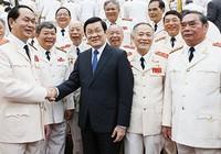 Chủ tịch nước tiếp các thế hệ tướng lĩnh công an