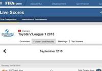 Đến FIFA cũng nhầm là Eximbank tài trợ cho Toyota V-League