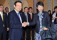 Chủ tịch nước Trương Tấn Sang tiếp đoàn doanh nghiệp Nhật