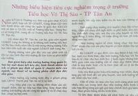 Tạp chí của Sở GD&ĐT Long An 'kết án' sai một trường tiểu học?