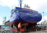 Hạ thủy tàu xuất khẩu sang Nga do Việt Nam đóng