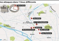 Những điểm nóng 'bão táp khủng bố' giữa Paris