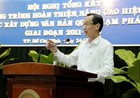 TP.HCM: Điểm sáng về xây dựng văn bản pháp luật