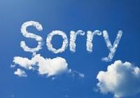 Xin lỗi cũng cần theo… cẩm nang (?)