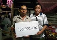 Gần 500 triệu đồng giúp đỡ gia đình có ba con bị chết đuối