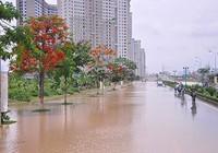 Cao ốc Hà Nội vẫn ngập trong biển nước