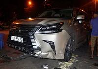 Công an thông tin về xe Lexus biển 80A gây tai nạn