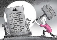 Đập phá vỏ mộ của người sống, phải bồi thường