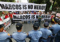 Biểu tình phản đối lễ an táng cựu Tổng thống Marcos