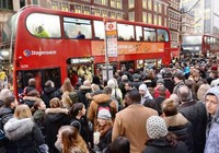 Tàu điện ngầm London tê liệt do đình công