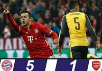 Sau Barcelona đến Arsenal thảm bại