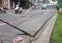 Kinh hoàng sụp cống dưới kênh Nhiêu Lộc