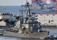 Tàu chiến Mỹ suýt chìm sau cú va chạm ngàn tấn