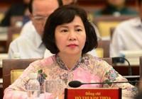 Làm thủ tục kiểm điểm Thứ trưởng Kim Thoa