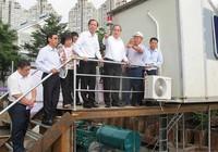 Bí thư Nguyễn Thiện Nhân kiểm tra máy bơm chống ngập