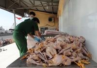 Bắt xe chở 160 kg thịt gà bẩn được tuồn vào TP.HCM
