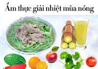 Những thực phẩm giúp giải nhiệt mùa nắng nóng