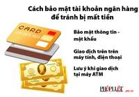 Cách bảo mật tài khoản ngân hàng để tránh bị mất tiền