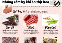 Những cấm kỵ khi ăn thịt heo