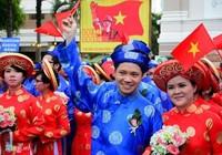 100 cặp đôi dự lễ cưới tập thể trong ngày Quốc khánh 2-9