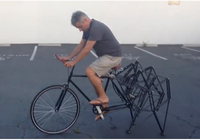 Độc đáo xe đạp... nhện