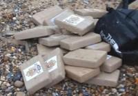 Tìm thấy 360 kg ma túy trôi dạt trên bờ biển