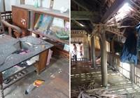 Nổ mìn khai thác đá khiến 4 người nhập viện, nhiều ngôi nhà thủng mái