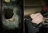 Xe đang chạy trên cao tốc bị ném đá vỡ kính