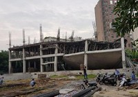 Trường mầm non ở Hà Nội sập khi đang đổ bê tông