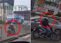 Truy tìm cô gái chạy xe máy ngược chiều trên đường cấm