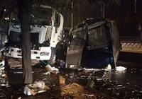 CSGT bị xe container tông chết khi làm nhiệm vụ