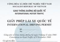 Chưa thể cấp giấy phép lái xe quốc tế sử dụng ở 73 nước