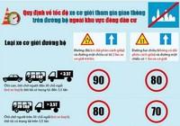Điều khiển xe quá tốc độ và mức phạt theo luật mới