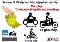 12 lỗi vi phạm của xe máy được nộp phạt trực tiếp