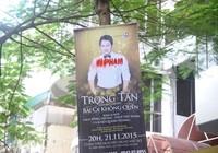 Băng rôn quảng cáo Đàm Vĩnh Hưng bị đóng dấu 'vi phạm'